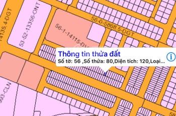 Chủ kẹt tiền gửi bán lô đất có sổ 120m2 xã Phước An huyện Nhơn Trạch, đất dự án, 750tr, 0934019725