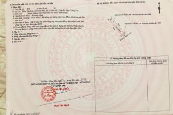 Đất nền thổ cư tại Châu Pha - TX Phú Mỹ, giá chỉ 3,3tr/m2, sổ riêng sang tên trong ngày