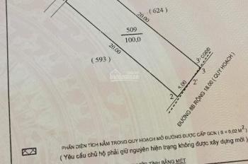 Bán đất mặt đường 8B (Trần Đình San) 100m2 hướng Đông Nam đường 18m