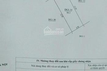 Bán đất dịch vụ DT 58 m2 giá 2.216 tỷ tại Khu Nấm, Yên Sở, Hoài Đức, Hà Nội, LH 0981782567 Dung