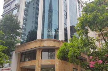 Cho thuê nhà mặt phố Hoàng Quốc Việt, Cầu Giấy. DT 200m2 x 8T + 1 hầm, mặt tiền 15m, giá 150tr/th