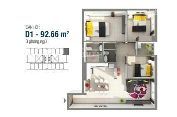 Cần bán căn hộ 8x Rainbow, DT 92m2, 3PN, NT cơ bản, giá 2,2 tỷ, LH: 0902541503