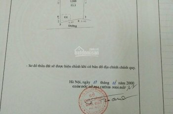 Bán đất ngõ 639 Hoàng Hoa Thám DT 53,5m2, mặt tiền 5,2m, giá 65tr/m2 có thương lượng