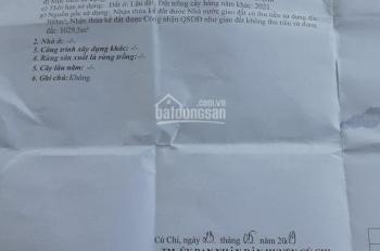 Cần bán đất ở xã Trung Lập Thượng, Củ Chi gần Tỉnh Lộ 7, 1329m2 (300m2 thổ cư) giá 5tỷ2
