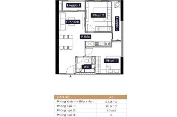 Căn A3, 58m2, cửa Tây Bắc chung cư Anland Lake View Dương Nội, giá 1,7 tỷ. Lh 0946543583