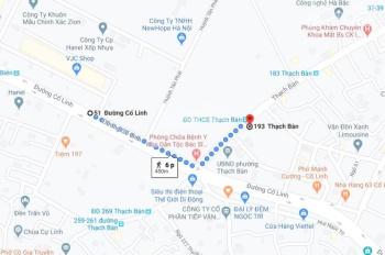 Bán đất ngõ 63 Cổ Linh - Thạch Bàn - gara ô tô - ô tô tránh xe - giá 55 tr/m2