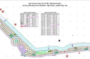 Chính chủ gửi bán lô đất dự án Cẩm Đình, Hiệp Thuận, mặt sông giá 3,8 triệu/m2