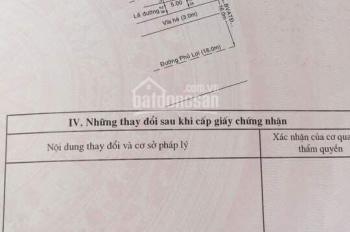 Mặt tiền đường Phú Lợi ngay ngã tư Lê Hồng Phong, vị trí kinh doanh. 0933292292