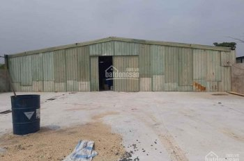 Bán kho xưởng có sẵn, mặt đường to thị trấn Quốc Oai giá rẻ, LH: 0965643356