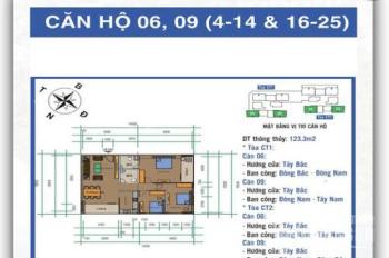 Cho thuê căn 3PN, 124m2 cửa Tây Bắc, chung cư Ban Cơ Yếu Chính Phủ, 13tr/th, nội thất cơ bản