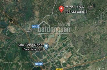 Chính chủ cần bán gấp lô 85.9m2 khu Tân xã, cách công nghệ cao Hòa Lạc 1km. 550tr - LH: 0919626179