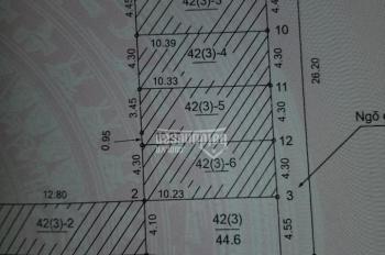 Chính chủ bán lô đất tại Cổ Dương Tiên Dương, giá 750tr. Diện tích 44.6m2, đường rộng 2,7m