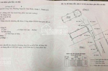 Bán nhà 100/13A - B Nguyễn Công Trứ, Nguyễn Thái Bình, Quận 1. DT 5.7x11m, GPXD 5 tấm, giá 12.3 tỷ