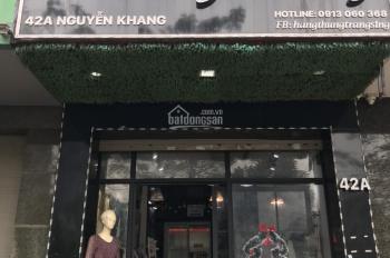 Cho thuê nhà 4 tầng làm cửa hàng tại 42A đường Nguyễn Khang, Cầu Giấy. LH 0913.909.155