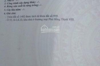Chính chủ cần bán đất nền trong khu dân cư Phú Hồng Thịnh 8