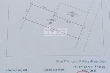Bán đất đẹp tại Giang Biên, Long Biên, Hà Nội, diện tích 197m2, mặt tiền 6.4m, hậu 8m