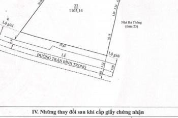 Cần bán đất lớn trung tâm hai mặt tiền đường Lý Tự Trọng và Đường Hàn Thuyên, khu trung tâm