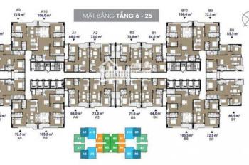 BBán căn hộ 73m2 chung cư cao cấp The Legend 109 Nguyễn Tuân giá 2,6 tỷ bao phí sang tên, về ở luôn