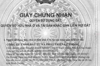 Bán lô đất ngay chợ, công an huyện Bắc Tân Uyên, có bớt lộc cho người thiện chí, LH: 0909 820 387