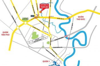 Bán gấp lô đất KDC Hà Đô Thới An, MT Lê Thị Riêng, Q12, từ 15 tr/m2, 100m2, sổ đỏ. LH: 0377557882