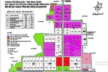 Bán đất trong KCN Đồng Xoài, DT từ 5000 - 12000m2, giá 1,224 triệu đến 1,447 triệu/m2