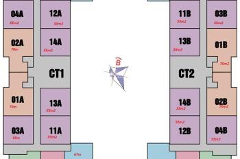 Bán căn 1214 tòa CT1 chung cư @Home 987 Tam Trinh, DT: 55m2, giá 1 tỷ 180, có sổ đỏ, LH: 0963777502