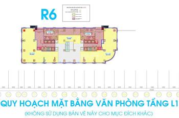 Cho thuê sàn văn phòng tầng 1 tòa R6 Royal City, diện tích 110m2