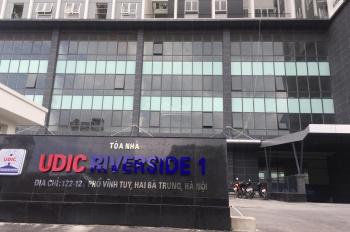 Cho thuê sàn VP, thương mại tòa UDIC Riverside 122 Vĩnh Tuy, DT 300m2, 500m2. LH: 0916.338.136