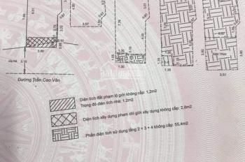 Bán nhà MT 4 tầng Trần Cao Vân DT: 3,5x7,8m = nở hậu hướng Nam, giá bán 4,1 tỷ. LHCC: 0935212949