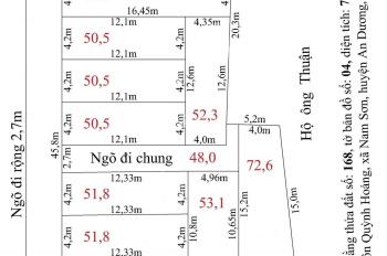 Bán đất phân lô Quỳnh Hoàng, Nam Sơn, An Dương, HP, DT 50m2 - 100m2. Giá từ 320tr/ lô