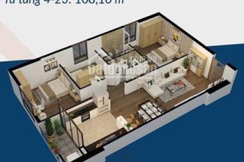 Chung cư Việt Đức Complex, cần bán gấp căn hộ 3PN, DT 108m2 tòa A, giá 2,9 tỷ