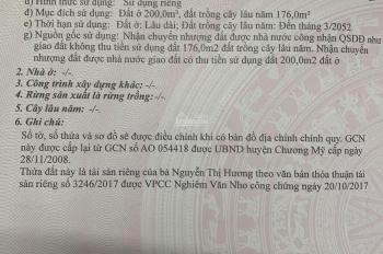 Chính chủ bán 376m2 đất 2 mặt ngõ gần thị trấn Chúc Sơn, huyện Chương Mỹ, thành phố Hà Nội