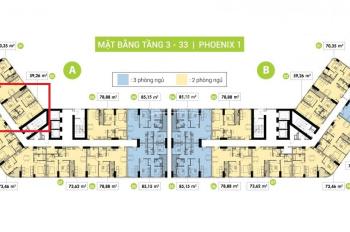 Topaz Elite block Phoenix 1A tầng trung - 60m2 - 2PN 2WC - ký hợp đồng trực tiếp chủ đầu tư