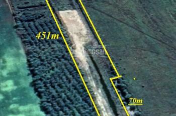 Bán đất mặt tiền kinh tám ngàn giá rẻ, DT 20x451m nở hậu 31m, 10.503m2, chốt 1.6 tỷ LH: 0931973059