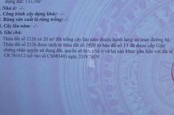 Đất Thái Hòa mặt tiền đường nhựa DT: 8x50 = 476m2 T/C: 131m2, giá 3 tỷ LH: 0983105691