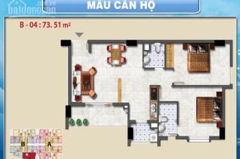 Bán căn hộ Tanibuilding Sơn Kỳ 1, 75m2 2PN 2WC, nhà trống, ở ngay