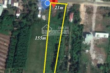 Đất kiên giang giá rẻ, mặt tiền QL 80 Bình Giang, Hòn Đất DT 21 x 155m giá 1.350tỷ - LH 0931973059