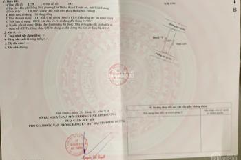 Cần bán lô đất 2 mặt tiền sau Lotte Mart Bình Dương