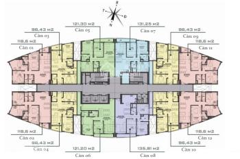 Bán căn 97m2, 2PN, cửa Nam chung cư Văn Phú Victoria giá 1,85 tỷ, nội thất cơ bản. LH 0934515659