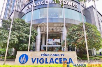 Cho thuê văn phòng tòa Viglacera giá rẻ nhất từ trước tới nay 142m2 100m2,244m2 giá chỉ 198k/m2