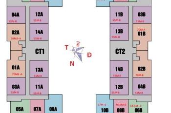A. Đức (0971285068). Cần tiền bán gấp căn 1014, DT 55m2, chung cư 987 Tam Trinh, giá 1.230 tỷ