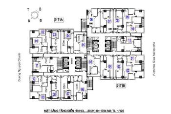 Bán gấp CH 44m2 - 55m2 - 62m2 - 66m2 tầng 12 CC A14 Nam Trung Yên 26 triệu/m2, 0395379124