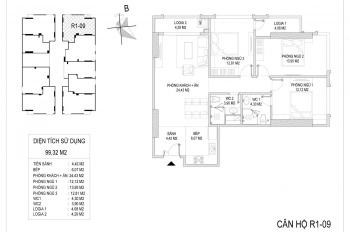 CK 4% bán căn góc 09 R1, 2 ban công, tầng đẹp cực thoáng, hướng Bắc, full đồ, giá 4 tỷ