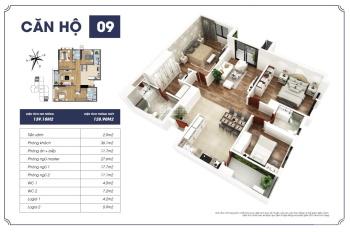 Cần bán gấp căn hoa hậu 09 tòa S2 139.18m2, 3PN chung cư Goldmark City, 0969949986