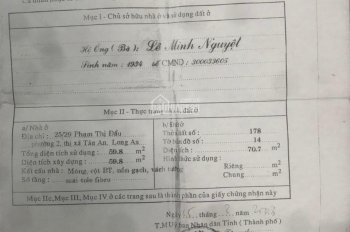 Nhà cấp 4 gần chợ Tân An, giá chính chủ, bán gấp chỉ 1 tỷ, rẻ nhất khu vực, lh 0919 207 357