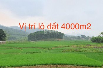 Bán 4000m2 đất sổ đỏ có 200m2 đất xây dựng nhà ở nông thôn tại Lương Sơn, Hòa Bình. LH 0971018889