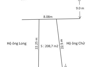 Bán lô đất mặt đường 208 (QL 17B) đoạn Lê Lợi, An Dương