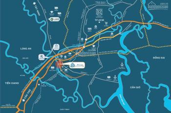 Nhà phố xây sẵn ven sông ngay trung tâm Bến Lức 1 trệt 2 lầu sân thượng chỉ 2,35 tỷ