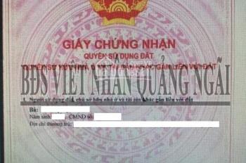 Bán đất nền P. Nghĩa Chánh TP Quảng Ngãi, DT 107.4m2, giá 960tr