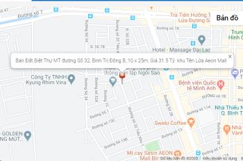 Bán đất góc 2MT đường Số 32, DT 10 x 25m, 31.5 tỷ, khu Tên Lửa, gần Aeon Mall, LH 0978.778.79I
